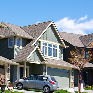 Elegant homes in an upscale residential neighbourhood